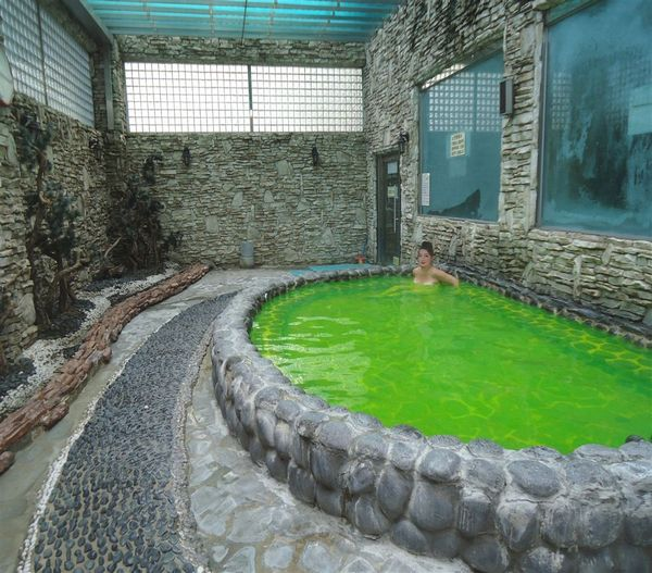 Korea fürdő - zöld tea medence